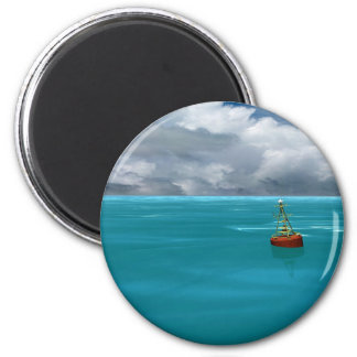 Seascapes - Gathering Storm - Virtual Imagery 2 Inch Round Magnet