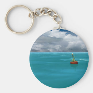 Seascapes - Gathering Storm - Virtual Imagery Basic Round Button Keychain