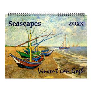 Seascapes, Maritime, Nautical by Vincent van Gogh Calendar