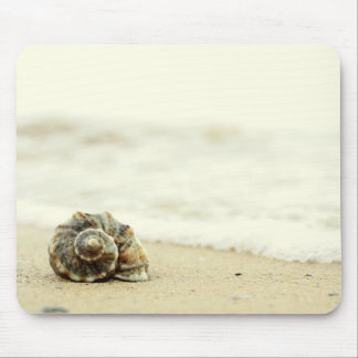 Seashell Alone On Beach Mouse Pad