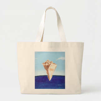 Seashell and ocean beach canvas bags