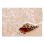 Seashell and ocean wave card