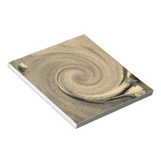 Seashell and sand notepad