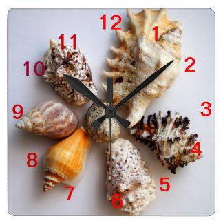 Seashell Arrangement Clock
