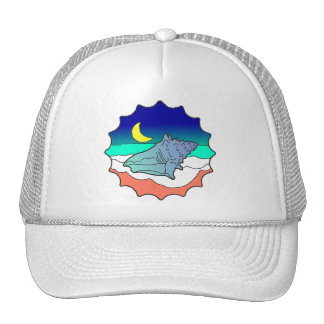 Seashell at Moonlight Trucker Hat