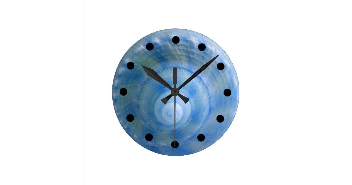 Seashell bath set wall clock zazzle for Seashell wall clock