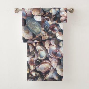 Beach Themed Seashell Bath Towel Set