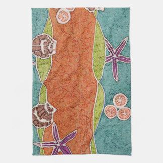 Seashell Batik Kitchen Towel