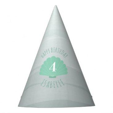Seashell Beach Birthday Party Hat