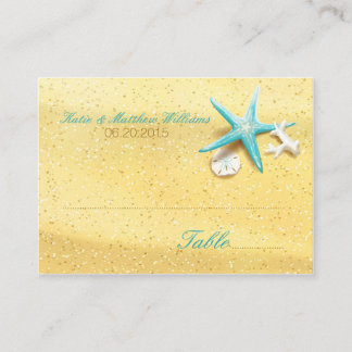 Seashell Beach Destination Wedding Place Cards