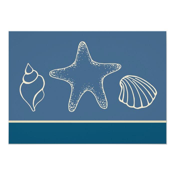 Seashell Beach Invitations