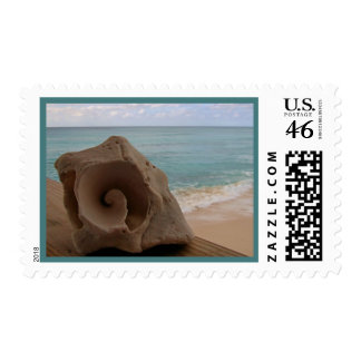 Seashell Beach Paradise Postage Stamps