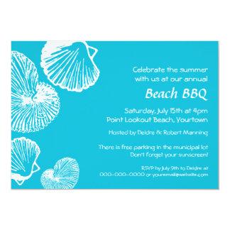 Seashell Beach Party Invitation