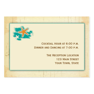 Seashell Beach Reception Large Business Cards (Pack Of 100)
