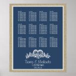 Seashell Beach Theme Seat Chart