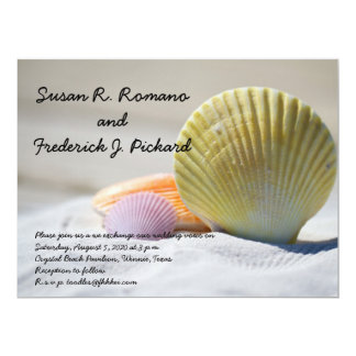 Seashell Beach Theme Wedding Invitation