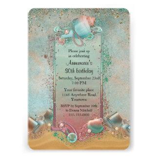 Seashell Beach Themed Birthday Card