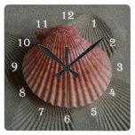Seashell Beach Wall Clock