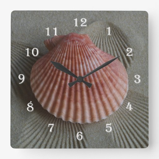 Seashell Beach Wall Clock