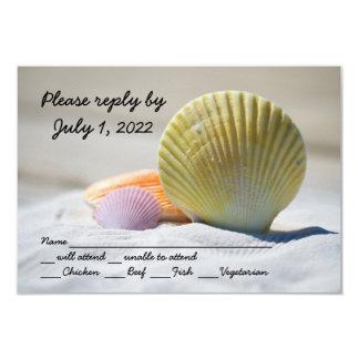 Seashell Beach Wedding Respond Cards