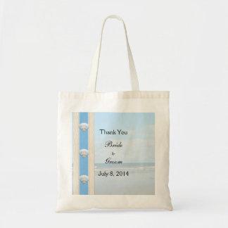 Seashell Beach Wedding Thank You Canvas Bag