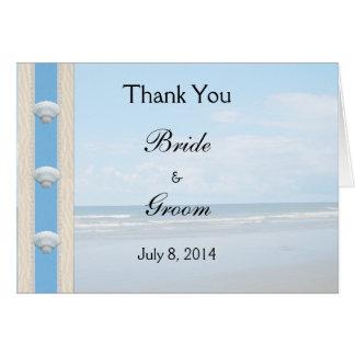 Seashell Beach Wedding Thank You Card