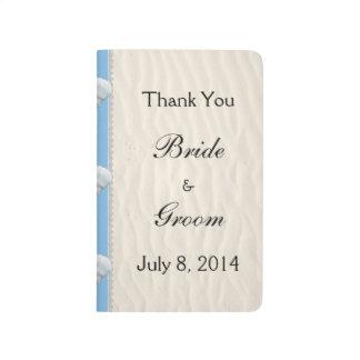 Seashell Beach Wedding Thank You Journal