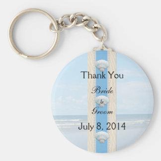 Seashell Beach Wedding Thank You Key Chain