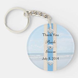 Seashell Beach Wedding Thank You Keychain