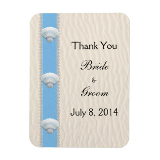Seashell Beach Wedding Thank You Magnet