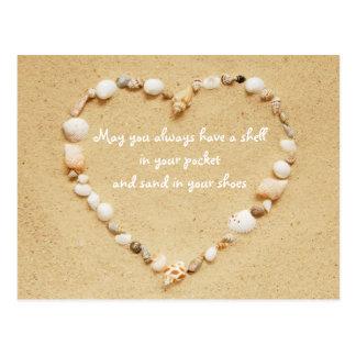 Seashell Blessings Postcard