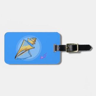 Seashell Blue Luggage Tag