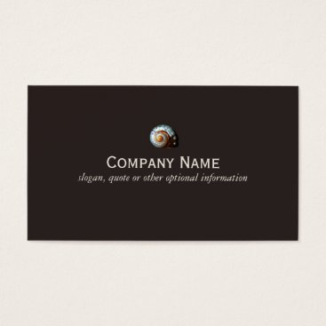 Professional Business Seashell Business Card