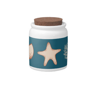 Seashell Canister Candy Dishes