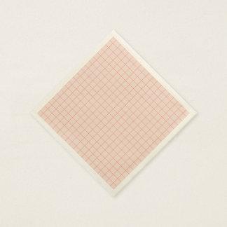 Seashell Checkered Paper Napkins
