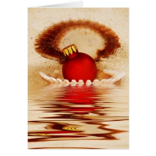 Seashell Christmas Card