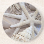"Seashell Coasters<br><div class=""desc"">Starfish &amp; Conch shell</div>"