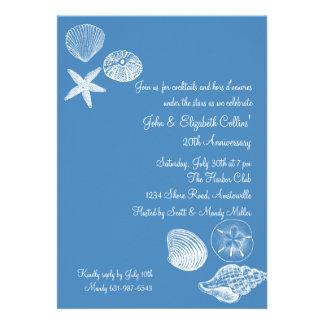 Seashell Collection Anniversary Party Invitation