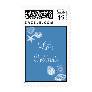 Seashell Collection Postage Stamp