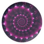 Seashell de la Atlántida (púrpura) Plato De Cena