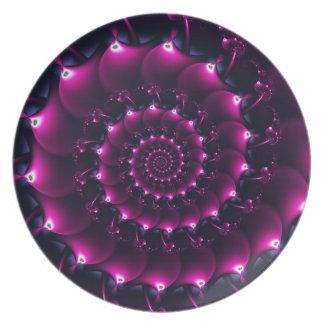 Seashell de la Atlántida (púrpura) Platos