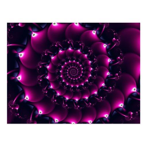Seashell de la Atlántida (púrpura) Postal