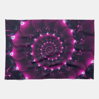 Seashell de la Atlántida (púrpura) Toalla De Cocina