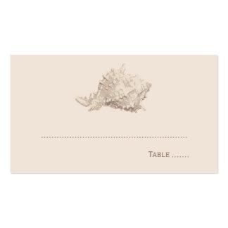 Seashell de marfil de la tarjeta el   del lugar tarjetas de visita
