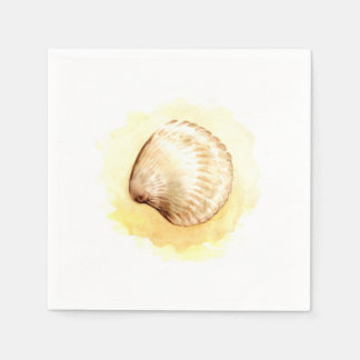 Seashell decorative paper napkins seashells