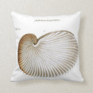 Seashell del Argonauta/playa/almohada de tiro Cojín Decorativo