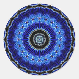 Seashell del caleidoscopio pegatina redonda