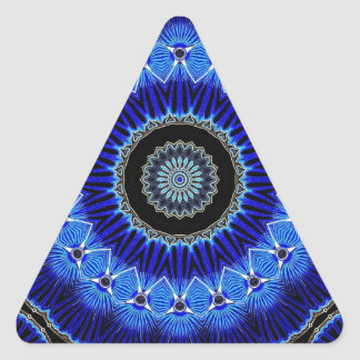 Seashell del caleidoscopio pegatina triangular