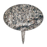 seashell del gris y de la plata figuras para tartas