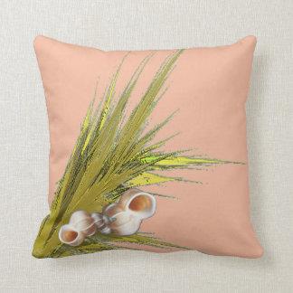 Seashell del melocotón almohadas